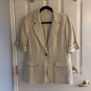 CAbi linen cream blazer